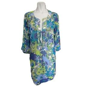 Tommy Bahama Sheer Beaded Coverup Size Large